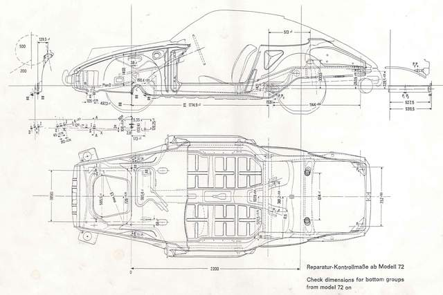 Porsche 911 factory dimensions julia 911